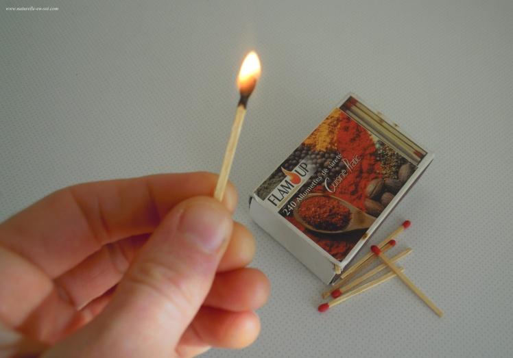 flamme allumette