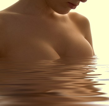 water and naked woman