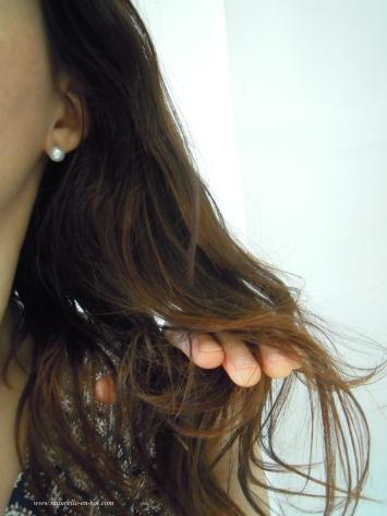 huile sur cheveux