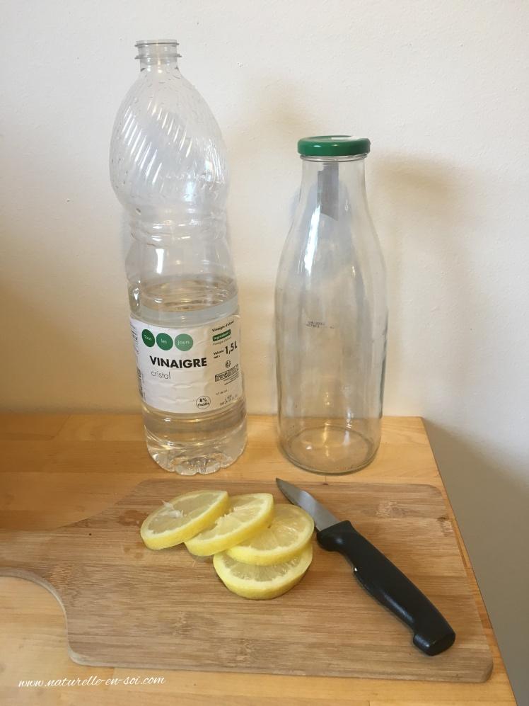 Ingrédients nettoyant ménager