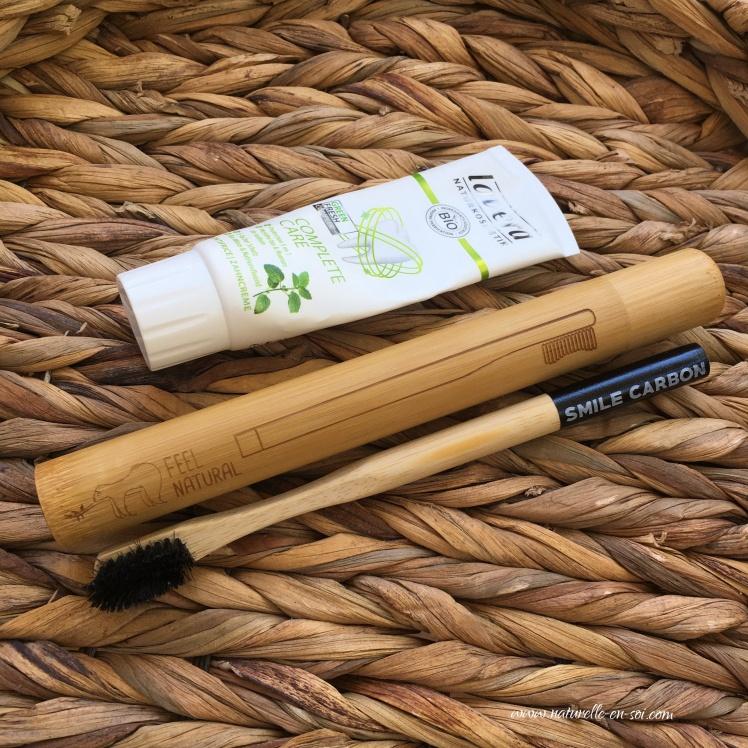 étui à brosse à dents en bambou
